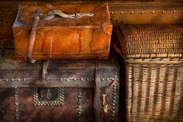 Luggage Print featuring the photograph Americana - Emotional Baggage by Mike Savad