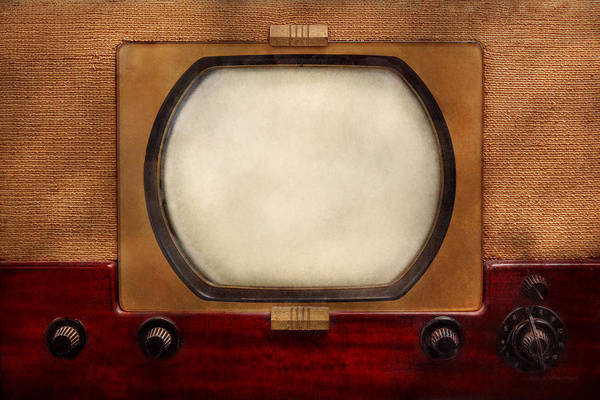 Savad Art Print featuring the photograph Americana - Tv - The Boob Tube by Mike Savad
