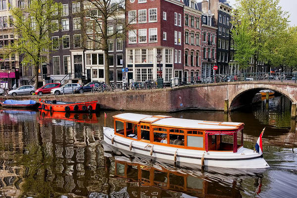 Amsterdam Art Print featuring the photograph Amsterdam Canal And Houses by Artur Bogacki