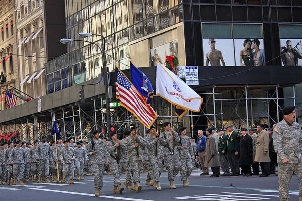 Military Art Print featuring the photograph An Army Outfit Marching In The 2009 New York St. Patrick Day Parade by James Connor