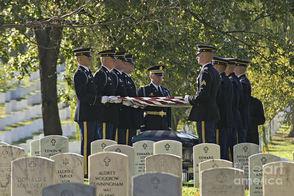 Arlington National Cemetery Art Print featuring the photograph An Honored Dead by Paul W Faust - Impressions of Light