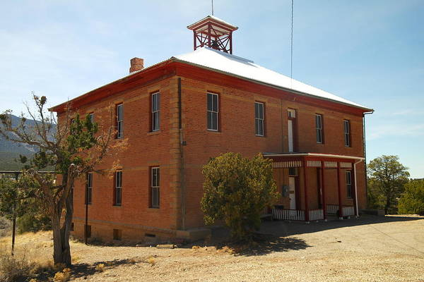 Old Art Print featuring the photograph An Old School In White Oaks New Mexico by Jeff Swan