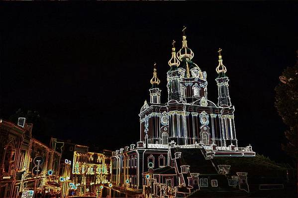 Cathedral Art Print featuring the photograph Andrew's by Steven Liveoak