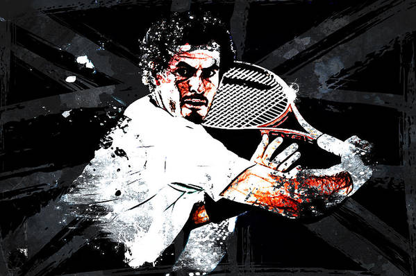 Andy Murray Art Print featuring the digital art Andy Murray by The DigArtisT
