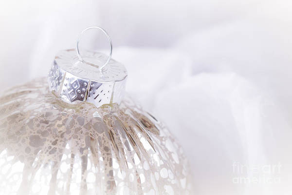 Aged Art Print featuring the photograph Antique Christmas Bauble by Jane Rix
