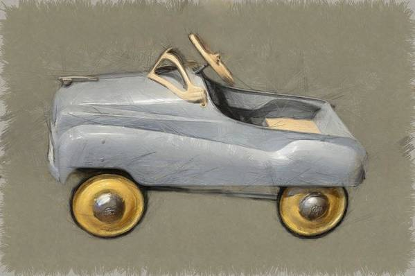 Steering Wheel Art Print featuring the photograph Antique Pedal Car Ll by Michelle Calkins