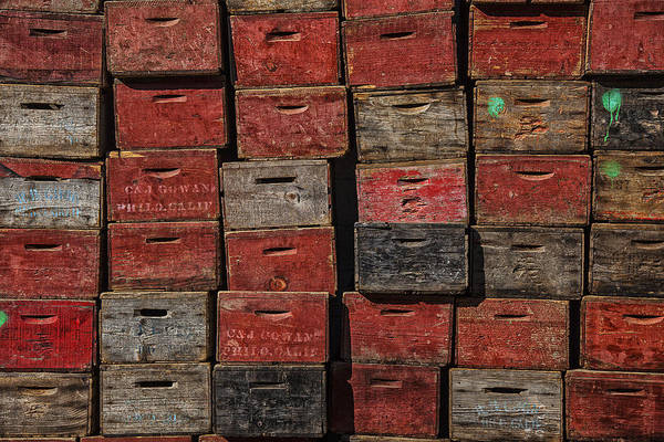 Apple Crates Art Print featuring the photograph Apple Crates by Garry Gay