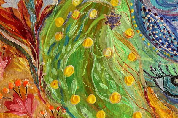 Evil Eye Art Print featuring the painting Artwork Fragment 81 by Elena Kotliarker