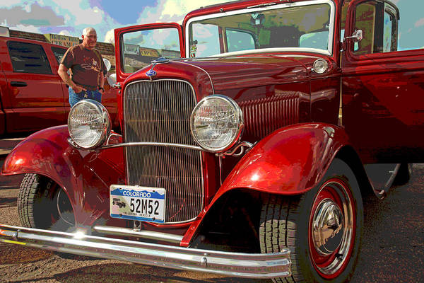 1930 Ford Coupe Art Print featuring the photograph At The Car Show by Mike Flynn