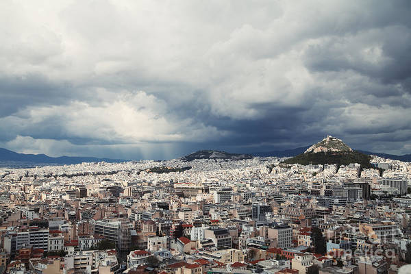 Landmarks Art Print featuring the photograph Athens by Ekaterina Planina