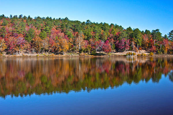 Water Art Print featuring the photograph Autum Reflection by Steve Wilkes
