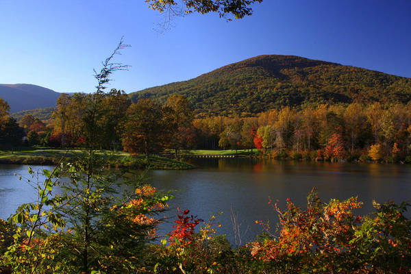 Fall Art Print featuring the photograph Autumn Mountain View by Anne Barkley