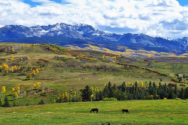 Colorado Photographs Art Print featuring the photograph Autumn Pastural Setting by Gary Benson