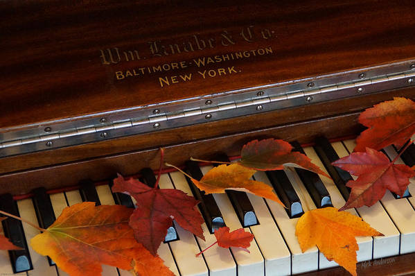 Autumn Art Print featuring the photograph Autumn Piano 1 by Mick Anderson