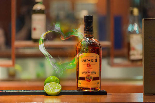 Bacardi Art Print featuring the photograph Bacardi And Lime In Love by Gavin Baker