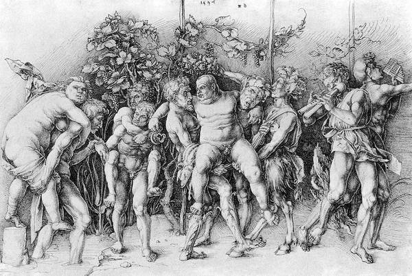 Baccanal Art Print featuring the photograph Bacchanal With Silenus - Albrecht Durer by Daniel Hagerman