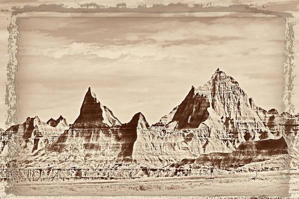 Badlands Art Print featuring the photograph Badlands Plate 1 by Frank Burhenn