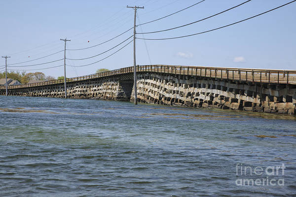 Bridge Print featuring the photograph Bailey Island Bridge - Harpswell Maine by Erin Paul Donovan