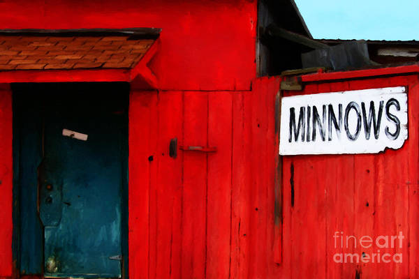 Americana Art Print featuring the photograph Bait Shop 20130309-2 by Wingsdomain Art and Photography