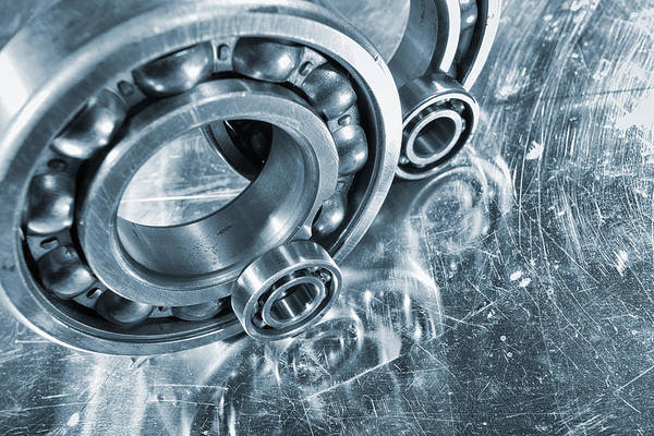 Ball-bearings Art Print featuring the photograph Ball Bearings And Engineering by Christian Lagereek
