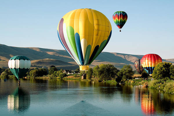 Photo Art Print featuring the photograph Balloon Reflections by David Patterson