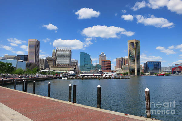 Baltimore Art Print featuring the photograph Baltimore Inner Harbor by Olivier Le Queinec
