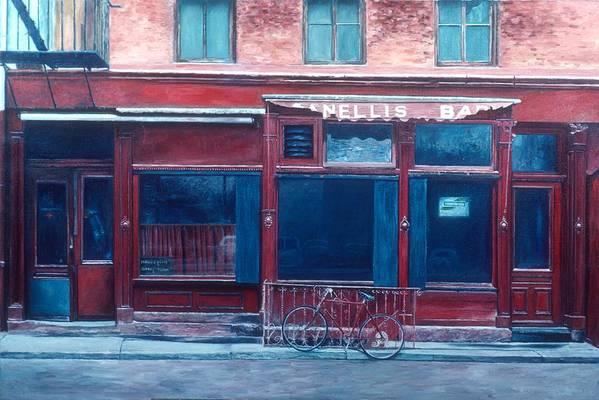 Soho Art Print featuring the painting Bar Soho by Anthony Butera