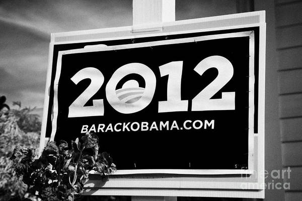 2012 Art Print featuring the photograph Barack Obama 2012 Us Presidential Election Poster Florida Usa by Joe Fox