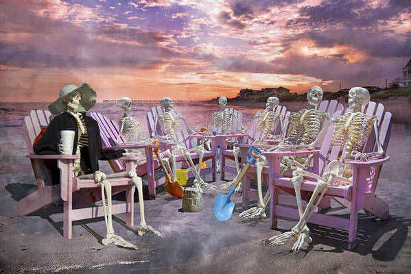 Humans Art Print featuring the photograph Beach Committee by Betsy Knapp