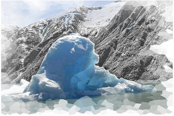 Blue Art Print featuring the photograph Bear Berg by Jody Lovejoy