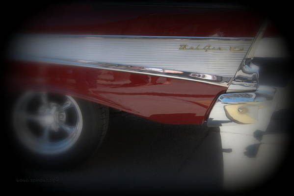 Chevy Art Print featuring the photograph Belair by Dorothy Hall