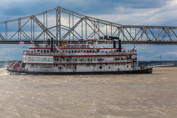 Great Steamboat Race Art Print featuring the photograph Belle Of Cincinnati by James Guest