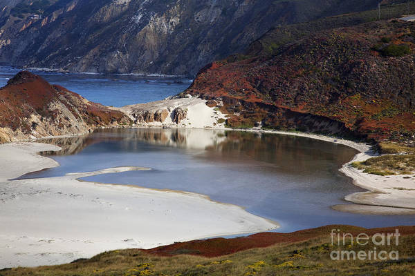 Beach Art Print featuring the photograph Big Sur Coastal Pond by Jenna Szerlag