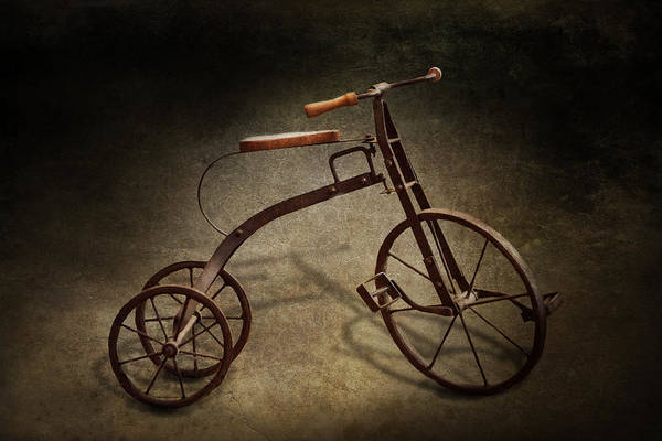 Hdr Art Print featuring the photograph Bike - The Tricycle by Mike Savad