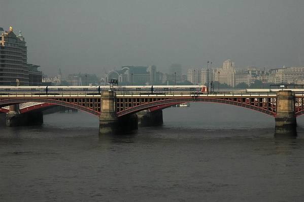 London Art Print featuring the photograph Blackfriars Railroad Bridge by Steven Richman