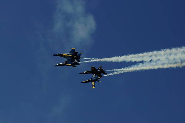 Blue Angels Art Print featuring the photograph Blue Angels by Steven Woodard