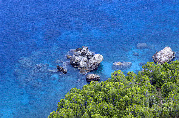 Blue Sea Art Print featuring the photograph Blue Sea by Boon Mee