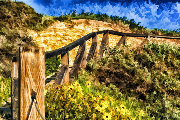Boardwalk Steps Art Print featuring the painting Boardwalk Steps by Anthony Citro