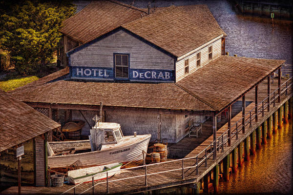 Hdr Art Print featuring the photograph Boat - Tuckerton Seaport - Hotel Decrab by Mike Savad