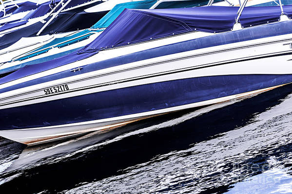 Boat Art Print featuring the photograph Boats And Reflections by Elena Elisseeva