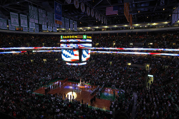 National Art Print featuring the photograph Boston Celtics Under The Star Spangled Banner by Juergen Roth