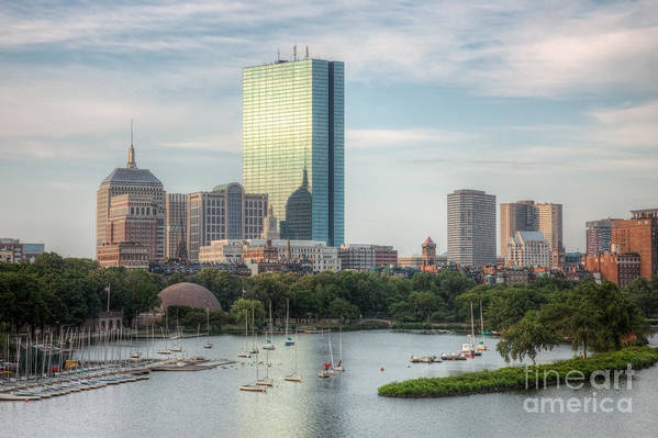 Clarence Holmes Art Print featuring the photograph Boston Skyline I by Clarence Holmes