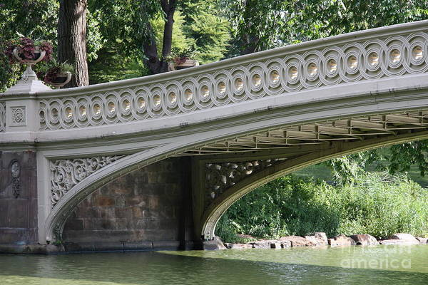 Bow Bridge Art Print featuring the photograph Bow Bridge Texture - Nyc by Christiane Schulze Art And Photography