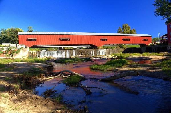 Landscape Art Print featuring the photograph Bridgeton Covered Bridge 1 by Marty Koch