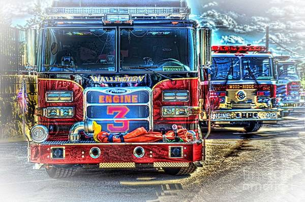Fire Trucks Print featuring the photograph Brute Strength by Arnie Goldstein