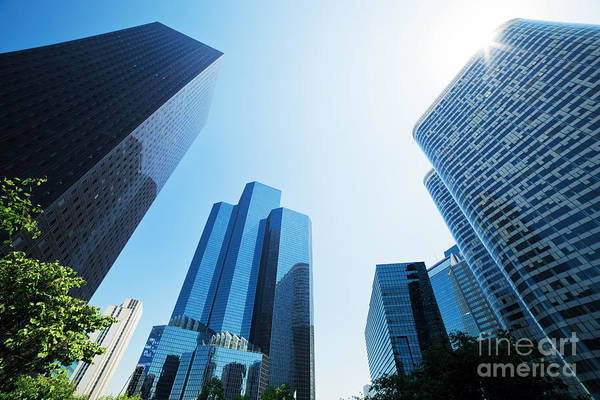 Skyscraper Art Print featuring the photograph Business Skyscrapers by Michal Bednarek
