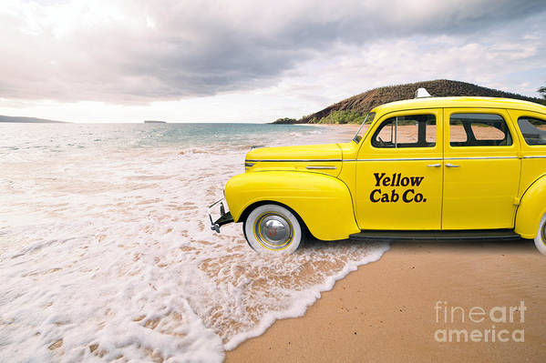 Hawaii Art Print featuring the photograph Cab Fare To Maui by Edward Fielding
