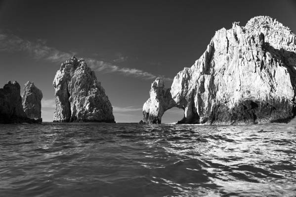 Los Cabos Art Print featuring the photograph Cabo In Black And White by Sebastian Musial