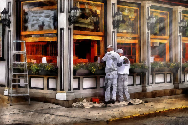 Savad Art Print featuring the photograph Cafe - The Painters by Mike Savad