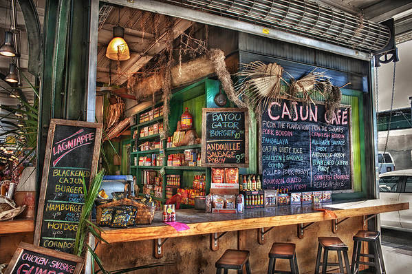 New Orleans Art Print featuring the photograph Cajun Cafe by Brenda Bryant